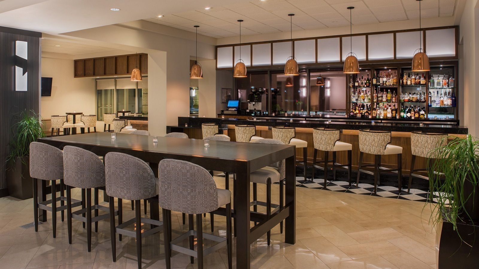 Newly Renovated Lobby in Elk Grove Hotel